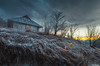 Cold House (Noro8) Tags: light sky house snow cold sign photoshop frozen mood apocalypse atmosphere help processing brushes biohazard postapocalypse noro8