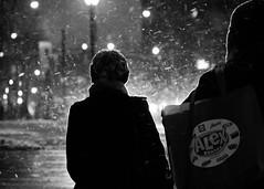Blowing (slightheadache) Tags: nyc newyorkcity blackandwhite bw snow newyork brooklyn valentinesday feburary 2015