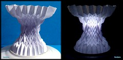 Curved Column With Fractal Folds 3/3 (NeoSpica / NeoLiveArt) Tags: paper origami structure cylinder fractal column fold curved tessellation folds corrugation folding techniques papercraft pleating waterbomb pleat horizontally fractalfolds parametricfolds