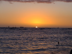 (erintheredmc) Tags: ocean travel blue trees winter sunset vacation holiday beach skyline volcano hawaii islands big paradise waves skies break fuji escape sundown pacific waikiki oahu erin rocky tourist palm wanderlust finepix hawaiian honolulu february 7th mccormack 2015 f900exr