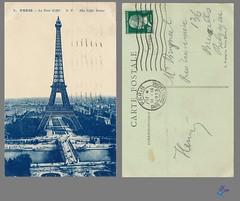 PARIS - La Tour Eiffel A.P. The Eiffel Tower (bDom [+ 3 Mio views - + 40K images/photos]) Tags: paris 1900 oldpostcard cartepostale bdom