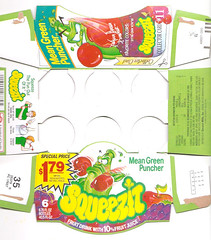 1991 Squeezit Mean Green Puncher Series 3 Box Fruit Drink (gregg_koenig) Tags: 3 green fruit drink box juice 1993 series mean 1991 1992 1990s 90s puncher squeezit