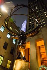 Atlas at Night (UrbanphotoZ) Tags: nyc newyorkcity sculpture ny newyork night skyscraper manhattan rockefellercenter midtown atlas deco leelawrie renepaulchambellan