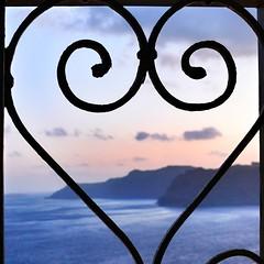 Happy Valentine's, dear friends! ♡ Hyvää Ystävänpäivää, rakkaat ystävät! ♡ (Toni Kaarttinen) Tags: sunset sea mountains love square island hills santorini greece squareformat heat valentines agean iphoneography instagramapp uploaded:by=instagram