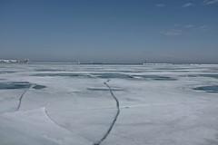The Breakup (ancientlives) Tags: travel winter usa chicago ice march illinois fuji saturday lakemichigan lakeshore 2015 23mm lakefronttrail fujix100s
