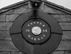 cattle market (andyp178) Tags: old bw building plaque d50 cattle market newport 1844