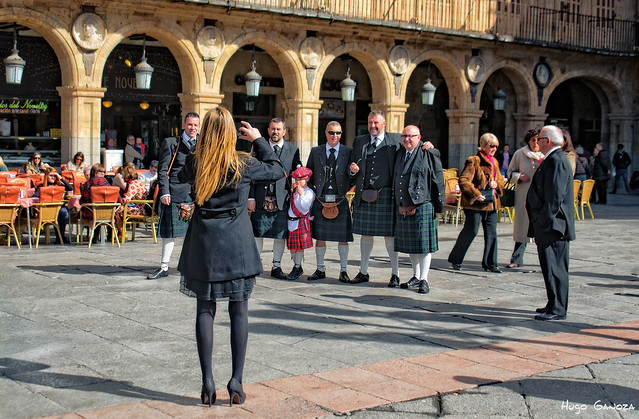 Scottish people - Plaza Mayor, Salamanca (España)