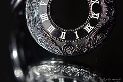 Tick Tock Goes The Clock (EmilyNinja) Tags: macro clock closeup dark mirror bokeh object jewellery 2015