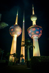 Kuwait Tower (Azarbhaijaan) Tags: colours towers kuwait kuwaitcity kuwaittowers baghdadi pakistaniphotographer pentaxk10d azharmunir drpanga