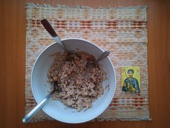 kolivo (miradel) Tags: people food history home saint st table truth icons moments natural eating faith prayer great poland icon calm christian story help together simplicity christianity organic moment tradition simple orthodox yourself fasting lent orthodoxy modlitwa iconographic tiron teodor prawosławie prawoslawie kolivo thesse stteodortiron beautyoforthodoxy koliwo