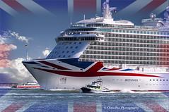 RULE BRITANNIA (chrisfay55) Tags: uk cruise england port ship flag po british passenger southampton unionjack liner