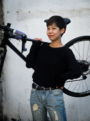 Rider Profile: Momo (Factory Five) Tags: china girl bike bicycle giant factory cross shanghai 5 five profile cx rider cyclocross