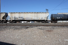 HERMES SLUGS MALICE (TrackSideLife) Tags: train graffiti 3a slug hermes slugs freight malice oye btm omt upsk