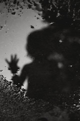 50| 100 (trois petits oiseaux) Tags: shadow puddle reflection kids haunting spooky ghost child blackandwhite