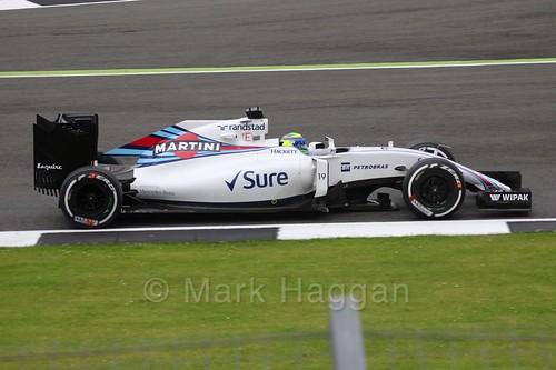 Felipe Massa in his Williams during Free Practice 1 at the 2016 British Grand Prix