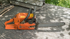 old but reliable  7-10-16 (photo synth) Tags: husqvarna266xp palmerwesterlind oldchainsaw oldbutreliable reliablechainsaw chainsaw keepsrunning oldequipment husqvarna husqvarnachainsaw 266xp