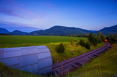 Shunting (stevenbulman44) Tags: summer sky mountain color train landscape evening tunnel filter lee shuswap gnd 1740f40l
