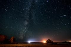 JulyBandon2016-8 (Ranbo (Randy Baumhover)) Tags: beach oregon stars pacificocean oregoncoast bandon meteor milkyway
