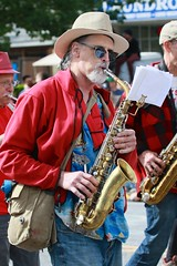 Fremont Solstice 2016  2201 (khaufle) Tags: solstice fremont wa usa hat marchingband parade saxaphone