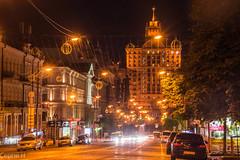 Kyiv   Ukraine (C H) Tags: kyiv kiev kijew     ukraine city night long exposure longexposure east eastern europe travel evening cars light lights building architecture