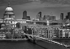 Millenium bridge and St Paul's (anne@wood) Tags: london millenium bridge st pauls monochrome