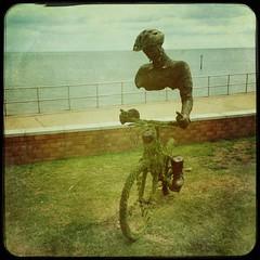 Cyclist (Marklucylockett) Tags: uk teignmouth mark lucy lockett july marklucylockett hipstamatic 2016 devon