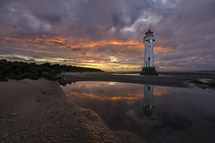 Perch Rock Lighthouse | New Brighton, Wallasey. (Mark Desmond Photography) Tags: sunset sky lighthouses beach uk ireland lighthouse england liverpool clouds irish canon perchrocklighthouse mersey english