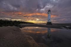 Perch Rock Lighthouse | New Brighton, Wallasey. (Mark Desmond Photography) Tags: sunset sky lighthouses beach uk ireland lighthouse england liverpool clouds irish canon perchrocklighthouse mersey english