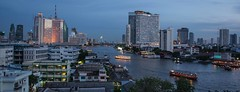 DSC_3631 (Ignacio Blanco) Tags: thailand night skyscrapers lights cityscape lighttrails riverviewguesthouse chaophrayariver buildings boats sunset dark bangkok chinatown vantage streetphotography