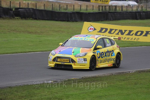 Alex Martin in BTCC race one at Knockhill Weekend 2016