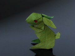 Rabbit - Jun MAEKAWA (Origami Wind) Tags: origami rabbit zhezhi
