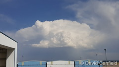 July 17, 2016 - Thunderstorms developing east of Rocky Mountain Airport. (David Canfield)