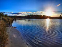 Lake's edge at sunset II (elphweb) Tags: hdr lake sunset lakeedge tranquil water coastal