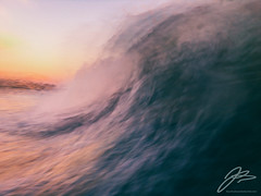 TRANSVERSE XXII (Justin Bartels) Tags: motion wave waves sunset pacific ocean water movement slowshutter