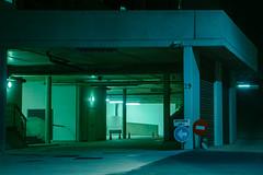 untitled (elsableda) Tags: parking durban south africa ligths green blue light urban sign night midnight sony