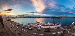 (mikper) Tags: lights urban cars bluehour stadsgrdskajen street sverige stockholm city seascape panorama evening ship katarinavgen schweden sweden stockholmsln se old town grna lund