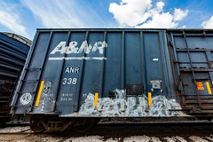 (o texano) Tags: lufkin texas graffiti trains freights bench benching a2m adikts 4dc gtb