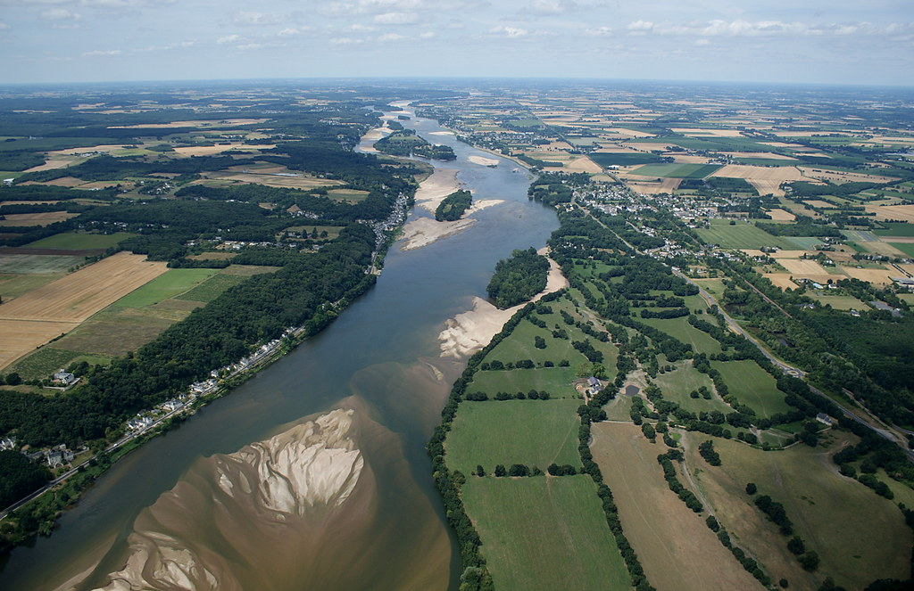 The Loire - our target river - looking east from near Saumur