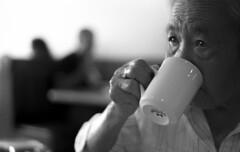 Coffee Days (Mel Weiner) Tags: film 35mm bachan grandma wrinkles coffee portrait