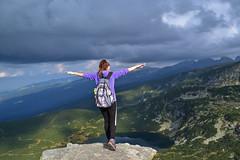 freedom (Angelina Ra) Tags: nikon d3100 mountain rila bulgaria beautiful lake sky outdoor rock