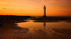 Orange (Caleb4ever) Tags: lighthouse caleb4ever orange sunset sea seascape sand coast coastline shore wirral merseyside northwest england uk sky reflection tideout ll
