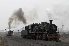 I_B_IMG_8198 (florian_grupp) Tags: asia china steam train railway railroad bayin lanzhou gansu desert landscape loess mountains sy ore mine 282 mikado steamlocomotive locomotive