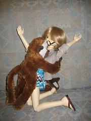 Confrontation 004 (EmpathicMonkey) Tags: bjd bluefairy olive toby happy monkey photo story ball jointed dolls toys