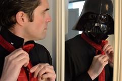 A Little Bit of Darkside (madgratter) Tags: portrait mirror reflection darth vader darkside star wars red black tie