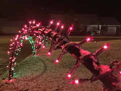 Christmas Display - 2015 (Dave Vandyne) Tags: christmas lights holiday holidays decorating decorations 2015 display arches snow close up