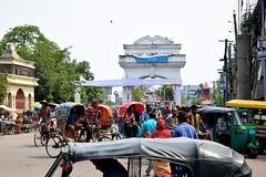 Court Point (Azonic DS1) Tags: crowd city centre center sylhet bangladesh clock tower ali amjad gateway keane bridge surma gate park court point circuit house rickshaw baby taxi cng mobile stalls river nikon d5300