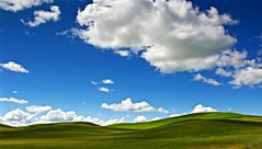 IMG_7564_Hard to forget. (lada/photo) Tags: thepalouse rollinghills greenfields greenandblue fieldsandsky ladaphoto clouds blueskyandclouds