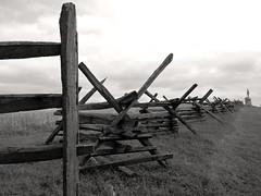 Battle of Sharpsburg 154th Anniversary (Photo Squirrel) Tags: fence fenceline trail cloud statue antietam sharpsburg