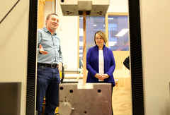 Provincial investment bolsters wood innovation and sustainable design (BC Gov Photos) Tags: unbc universityofnorthernbc tallwoodandhybridstructures engineering wood research bctech bctechstrategy