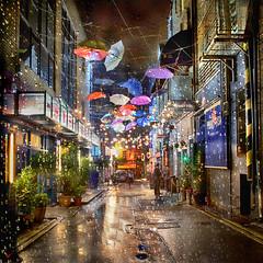 Magical Dublin (janetmeehan) Tags: dublin dublinireland dublinstreetscene rain raindrops reflections reflection streetphotography streetscene street city colour umbrellas urban buildings